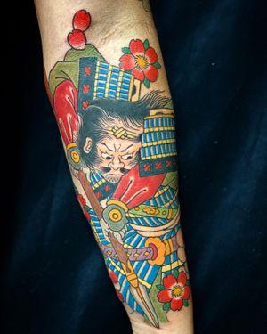 #samurai #sakura #cherryblossom #tattoo