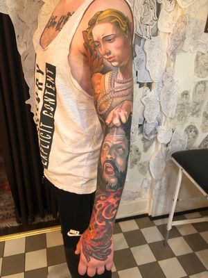 Caravaggio-sleeve done by Jacob Wiman / BlackmagicJake