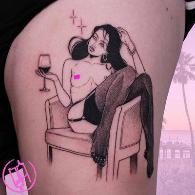 Dreams and wine done with love at BlackSerum San Francisco 🖤