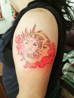 Sun and moon kiss again
