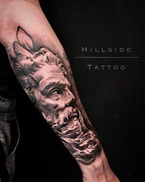 #tattoosouthafrica #hillsidetattoo #ashjworldwide #poseidontattoo