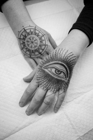 Aejishalmur and buddha eye hand tattoo #handtattoo #aejishalmur #buddhaeye