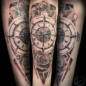 Clocks compasses and roses. I love doing common subjects in a wierd way. It makes me love those subjects again.