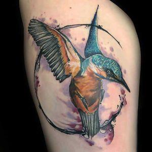 Realistic Watercolor Kingfisher
