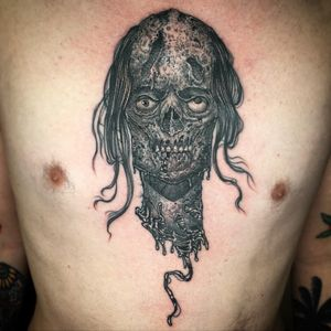 Fun black and grey zombie head from the other day