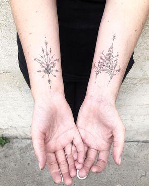 Tattoos by Alexia Yum Cha of L'Encrerie #AlexiaYumCha #Lencrerie #fineline #ornamental