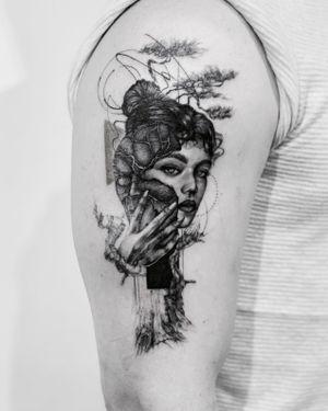 Masks beneath masks until suddenly the bare bloodless skull 🔘 . Booking OPEN! johny@danieltorocsik.com @torocsikartroom . . #tattooed #inked #inkedmag #inkjunkeyz #tattooedmag #art #artist #tattooartist #budapest #bp #budapesttattoo #sketch #freehand #dailytattoo #dailyphoto #lines #fineline #tattoomachine #brush #blackwork #photography #travel #tattoomodel #instatattoo #portrait #tree #girl #mask #portraittattoo #masktattoo