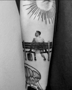 Full healed Forest Gump 🏃🏽 @pannipix 🙏🏼 . . . @eternalink @criticaltattoosupply @bishoprotary @tattoomed_hungary @cheyenne_tattooequipment #tattooed #inked #art #artist #tattooartist #budapest #budapesttattoo #bp #hungary #hungariantattoo #hungariantattooartist #movie #movietattoo #forest #forestgump #bubbagump #running #minimal #minimaltattoo #microrealism #realistictattoo #blackwork #photo #photography #travel #europetattoo