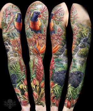 Tropical/jungle sleeve