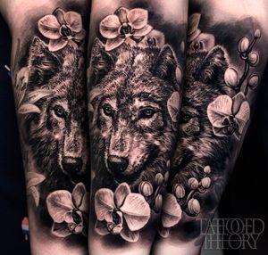 Wolf/flowers