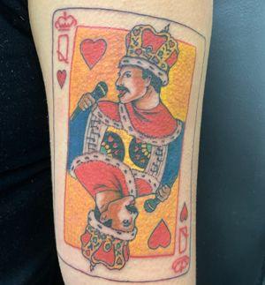 Freddy Mercury queen card