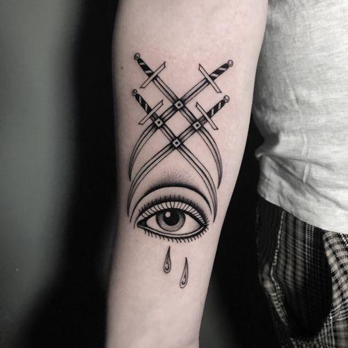 #totemica #buioOmega #tunguska #black #eye #tears #sword #sight #tattoo #originalsintattooshop #verona #italy #blackclaw #blacktattooart #tattoolifemagazine #tattoodo