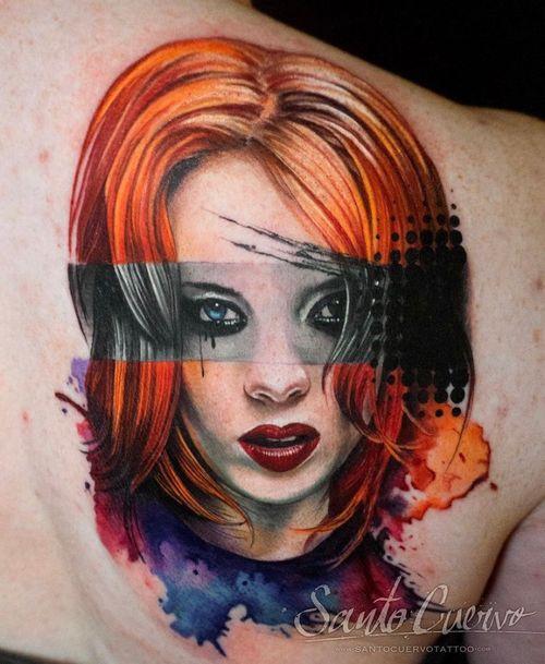 Shirley Manson - Sponsored by: @hellotattoomed @greenhousetattoosupplies Done using: @killerinktattoo @fusion_ink @fkirons @inkjecta @blackclaw @stencilanchored @inkeeze #tattoo #tattedup #tattooart #tattoostudio #tattoolovers #ink #inklife #inked #tattooartist #londontattooartist #tattooing #tattoolife #tattoosocial #tattoolondon #vegantattoo #veganink #vegan #killerinktattoo  #london #stokenewington #hackney #londontattoostudio #alexalvarado #santocuervo