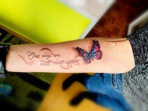 Butterfly tattoo#colourtattoo#intenzeink#