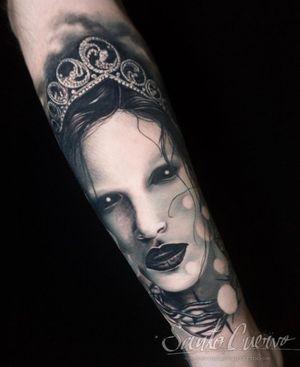 Dark princess - Sponsored by: @hellotattoomed @greenhousetattoosupplies Done using: @killerinktattoo @fusion_ink @fkirons @inkjecta @blackclaw @stencilanchored @inkeeze #tattoo #tattedup #tattooart #tattoostudio #tattoolovers #ink #inklife #inked #tattooartist #londontattooartist #tattooing #tattoolife #tattoosocial #tattoolondon #vegantattoo #veganink #vegan #killerinktattoo  #london #stokenewington #hackney #londontattoostudio #alexalvarado #santocuervo