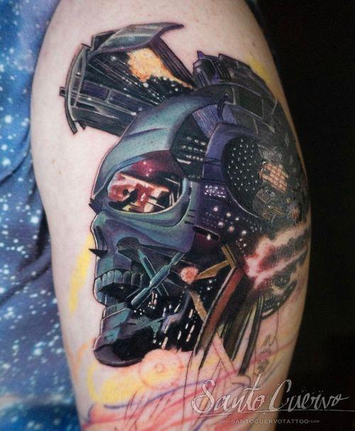Knowhere - Sponsored by: @hellotattoomed @greenhousetattoosupplies Done using: @killerinktattoo @fusion_ink @fkirons @inkjecta @blackclaw @stencilanchored @inkeeze #tattoo #tattedup #tattooart #tattoostudio #tattoolovers #ink #inklife #inked #tattooartist #londontattooartist #tattooing #tattoolife #tattoosocial #tattoolondon #vegantattoo #veganink #vegan #killerinktattoo  #london #stokenewington #hackney #londontattoostudio #alexalvarado #santocuervo