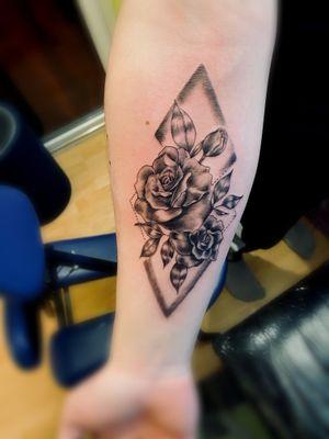Tattoo#rose#black#intenzeink#
