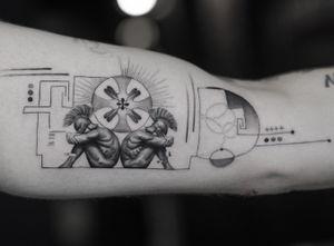 Sad • • Sponsored by @eztattooing @panormostattoo  @tattoobull.lab #vselect #vselectcartridges  #tattoo #art #history #lion #statue #composition #bodyart #davinci #esquisse #blackandgreytattoo #black #ink #inkstinctsubmission ##blackwork #tatts #inkedmag #tattooist #artist #sametyamantattoos #tattoodo #design #tattoodesigner