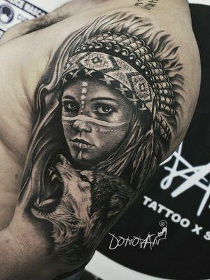 🏹INDIAN🐺 2 sesiones, mucho aguante 🔥 Casi 12 horas en total Citas disponibles, Tunja ✅ 3112939361 #realismo #realismotattoo #lobotattoo #animals #indiatattoo #tunjatattoo #donovantattoos #tatuajes #tattoartist