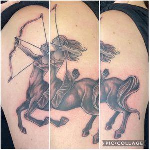 Illustrative Sagittarius tattoo