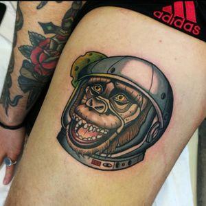 #monkey #monkeytattoo #monkeyneotraditional #neotraditionaltattoo