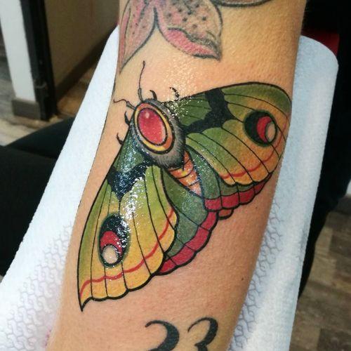 Butterfly tattoo #neotraditionaltattoo #butterfly #butterflytattoo