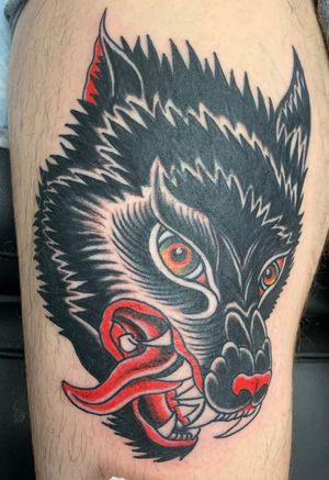 Wolf head cover up