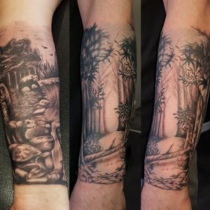 Forest tattoo Done by me Tiago Silva
