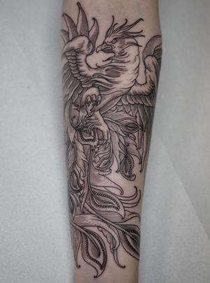 engraving tattoo by Ruslan