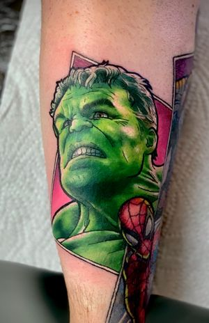Hulk, part of ongoing Marvel sleeve  #hulk #incrediblehulk #comic #comicbook #avengers #marvel #nerd #geek