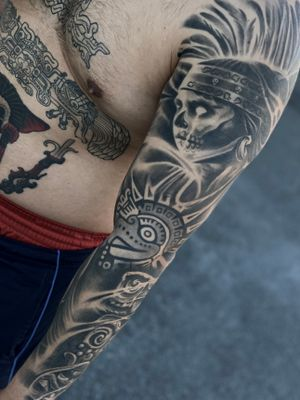 Aztec sleeve.