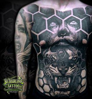Honeycomb Tiger Front Piece