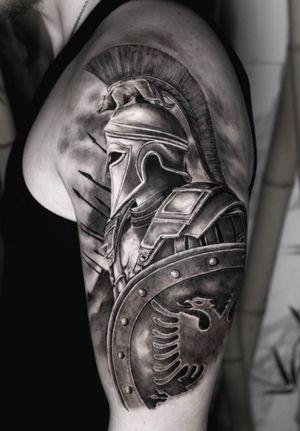 Albanian warrior tattoo