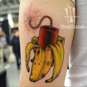 Surprise banana #neotraditional #neotrad #philly #philadelphia