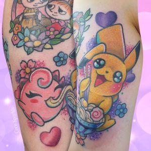 #pokemon #pikachu #jigglypuff #kawaii #cute #ramen