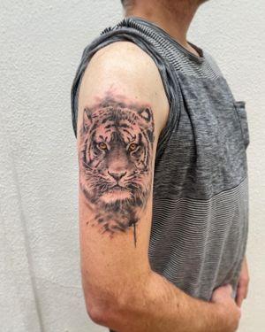 Cool tiger piece.