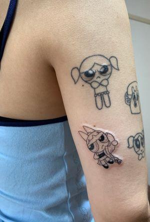 #tattoo #tattooed #ink #tokyo #futakotamagawa #nikotamaink #aiko #tatuage #tattooart #tattoostagram #animetattoo #blacktattoomag #blackwork #blackworktattoo #powerpuffgirls #powerpuffgirlstattoo