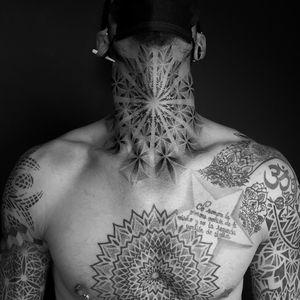 #geometry #geometric #geometrictattoo #sacredgeometry #sacredgeometrytattoo #dotworktattoo #dotwork #dottattoo #blackworktattoo #blackwork #psychedelic #patternwork #patterntattoo #3dtattoo #mandala #mandalatattoo #mandaladotwork #mandaladesign #geometricmandala  #arm #armtattoo #psychedelic #psychedelictattoo #opticalillusion #opticaltattoo #fullsleeve #fullsleevetattoo #throat #neck #chest