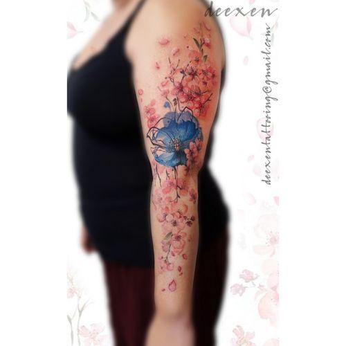 Nature repairs Everything ➡️Contact: deexentattooing@gmail.com 🌸Merci Coralie! . . . #watercolortattoo #tattoo #watercolor #tattoos #tattooart #ink #tattooartist #tattooed #inked #tattoodesign #lineworktattoo #tattooist #colortattoo #tatuaje #tattoolife #tattooink #tat #inkedgirls #sakuratattoo #cherryflowerstattoo #fleursdecerisiertatouage #tatouageaquarelle #deexen #deexentattooing