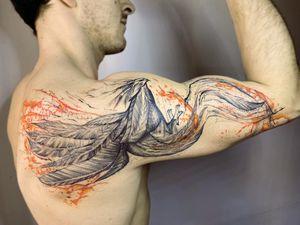 #phoenix #fenix #fenice #fire #sketch #design #whipshading #fire