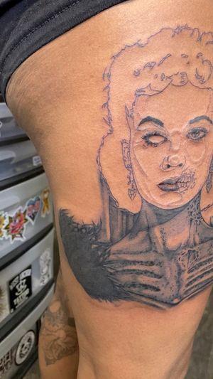Progress shot zombie Scarlett O Hara