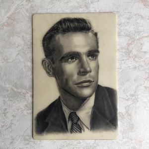Sean Connery Portrait on fake skin 🌹 #fakeskintattoo #vintageportrait #seanconnery #tattooportrait