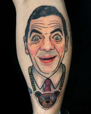 Mr. Bean portrait tattoo