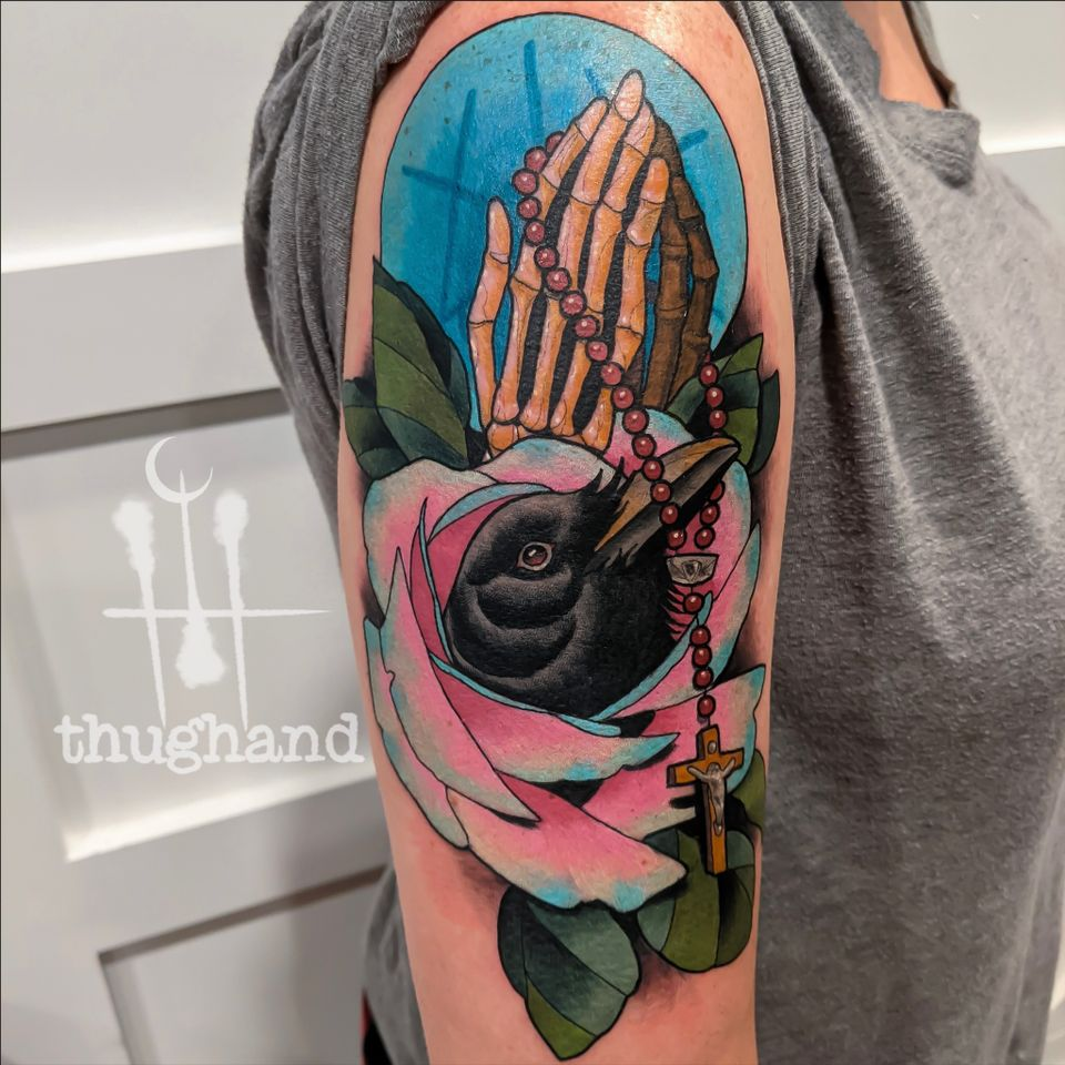 Memorial piece - Tattoo by Doug Hand #DougHand #illustrative #philly #philadelphia #neotrad #neotraditional