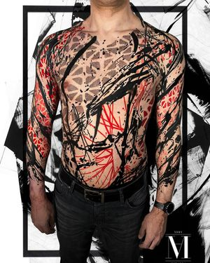 Different perspective...... Body suit in progress ..... Abstract concept Avantgarde style ...