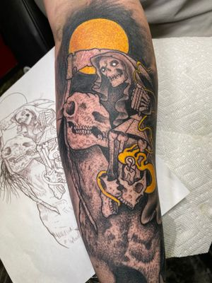 Death four horsemen by Adam Justus @electric_tattoos