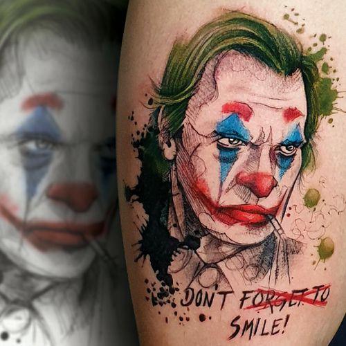 Joker sketch Witherspoon watercolor