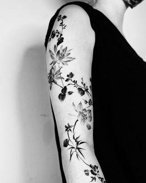 【蓮】Lotus #chinesecalligraphy #calligraphy #brushstroke