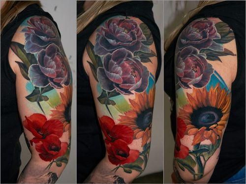 flower fusion, partly healed