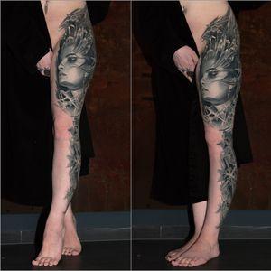 healed ice queen leg sleeve
